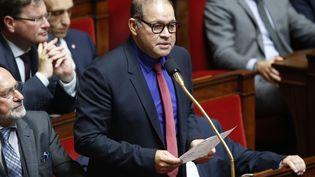 David Lorion, député de la Réunion, à l'Assemblée nationale le 22 octobre 2019. (S?BASTIEN MUYLAERT / MAXPPP)