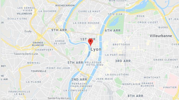 Quai de la pêcherie, dans le 1er arrondissement de Lyon (Rhône). (CAPTURE D'ECRAN GOOGLE MAPS)