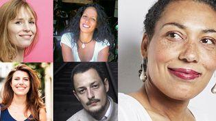 Adeline Dieudonné, Meryem Alaoui, Clélia Renucci, Hector Mathis, et Estelle-Sarah Bulle, cinq primo-romanciers de la rentrée littéraire 2018
