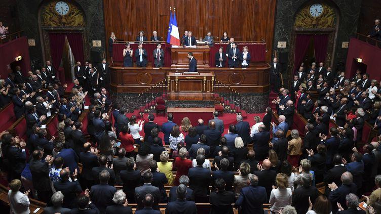 Les députés et sénateurs réunis en Congrès à Versailles, le 3 juillet 2017. (ERIC FEFERBERG / AFP)