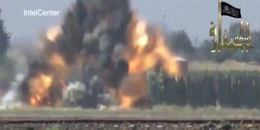 Extrait d'une vidéo du Front Al-Nosra de septembre 2012. (AFP PHOTO / IntelCenter)
