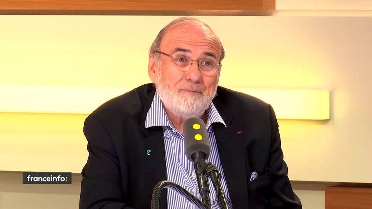 Jean-Pierre Blanc, ledirecteur général des cafés Malongo, dans le studio de franceinfo vendredi 11 mai 2018. (FRANCEINFO)