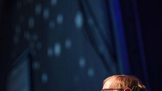 L'astrophysicien Stephen Hawking donne une conférence le 23 septembre 2014 à Tenerife (Espagne). (DESIREE MARTIN / AFP)
