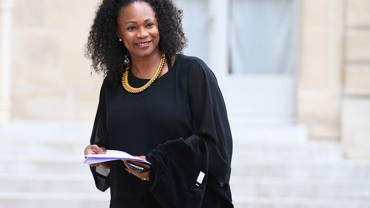 Laura Flessel arrivant au Ministère des Sports (CHRISTOPHE ARCHAMBAULT / AFP)