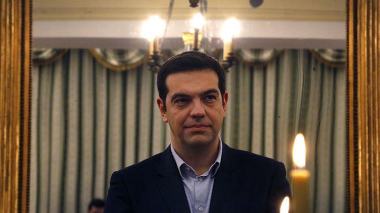"""(Le Premier ministre Alexis Tsipras veut mettre fin fin à la politique de """"soumission"""" de la Grèce  © REUTERS/Yannis Behrakis)"""
