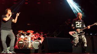 Serj Tankian le chanteur et Shavo Odajian le bassiste de System Of A Down  (Jacques Avakian)