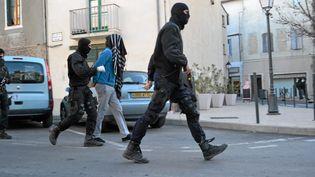 Opération anti-jihadiste à Lunel (Hérault), le 27 janvier 2015. (MAXPPP)