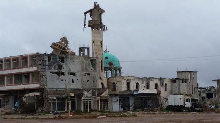 (Près de Deraa dans le sud, Cheikh Miskine a été reprise en janvier par l'armée loyaliste avec l'aviation russe © RF/ Valérie Crova)