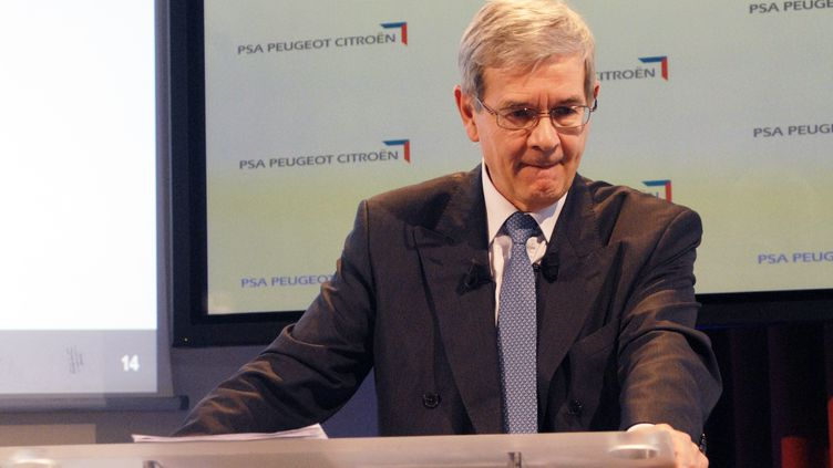 Philippe Varin, PDG de PSA Peugeot-Citroën, le 12 juilllet 2012, à Paris. (CITIZENSIDE/PATRICE PIERROT / CITIZENSIDE.COM)