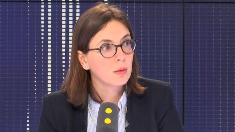La député LREM de l'Essonne, Amélie de Montchalin, samedi 14 avril sur franceinfo. (RADIO FRANCE)
