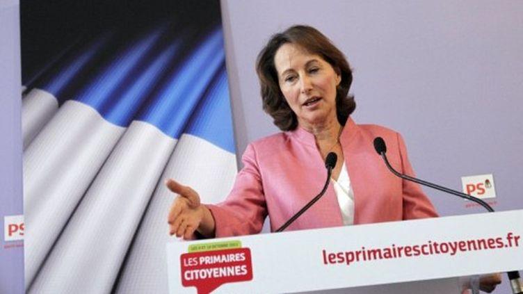 Ségolène Royal a visé Martine Aubry et François Hollande dans une interview au Figaro publiée ce jeudi. (PATRICK KOVARIK / AFP)