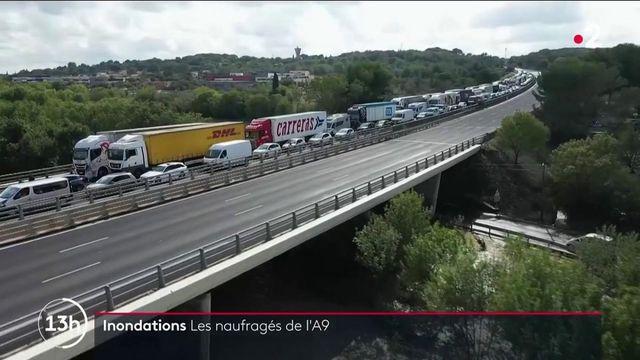 Inondations dans le Gard : les automobilistes de retour sur l'A9