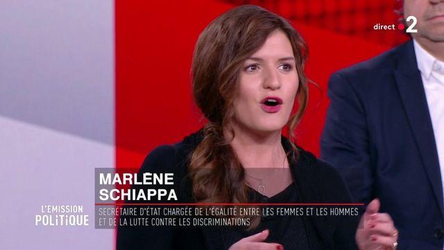 """Marlène Schiappa tacle Benoît Hamon sur le plateau de """"L'Emission politique"""""""