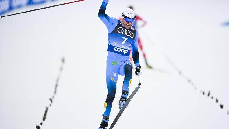 Maurice Manificat heureux de sa 3e place à Val Muestair (GIAN EHRENZELLER / KEYSTONE)
