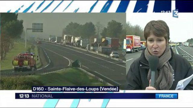 Vendée : un carambolage mortel fait au moins cinq morts