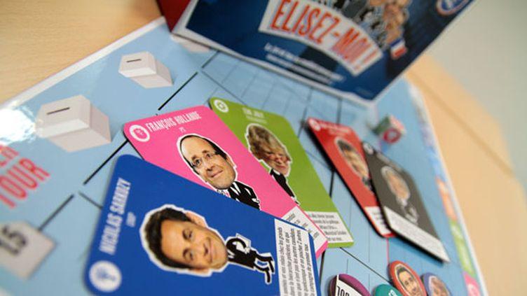 Le jeu de société Elisez-moi est édité par Marabout-Hachette. (ELODIE DROUARD / FTVi)