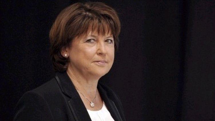 """""""Pas question de remettre en cause le statut de fonctionnaire"""", insiste Martine Aubry. (AFP - Philippe Huguen)"""