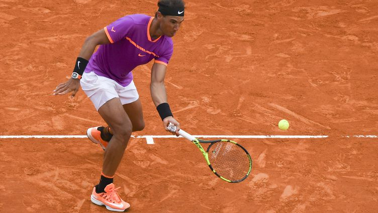 Le joueur espagnol Rafael Nadal (YANN COATSALIOU / AFP)