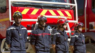 Des pompiers à Castries (Hérault), le 7 juillet 2020. (MAXPPP)