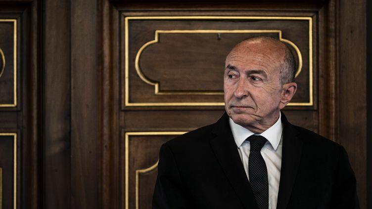 Gérad Collomb, à la mairie de Lyon, le 6 juin 2019. (JEFF PACHOUD / AFP)