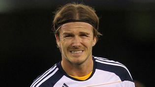 Le joueur du Los Angeles Galaxy,David Beckham, lors d'un match amical à Melbourne (Australie) le 6 décembre 2011. (BRANDON MALONE / REUTERS)