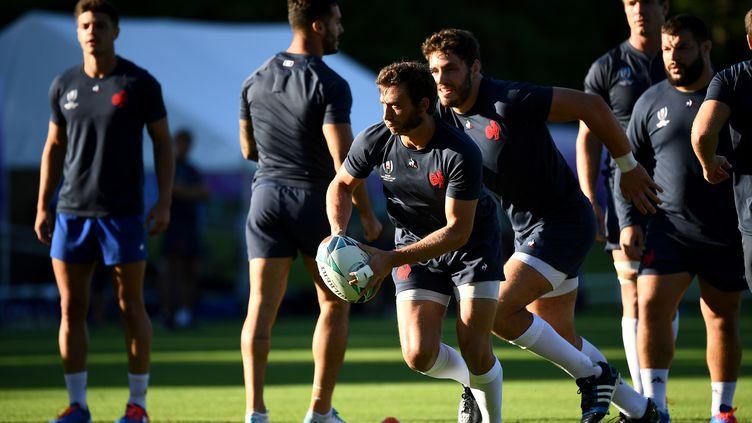 MaximeMedard s'entraîne pour la Coupe du monde de rugby àFujiyoshida (Japon), le 16 septembre 2019. (FRANCK FIFE / AFP)