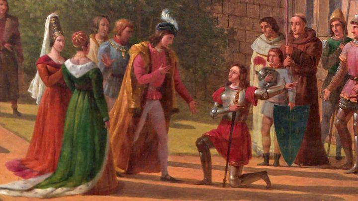 Jeanne d'Arc devant Charles VII à la forteresse de Loches (Musée des Beaux-Arts de Tours)
