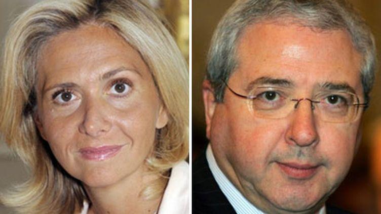 Valérie Pécresse - Jean-Paul Huchon (AFP - Gautreau/Piermont)