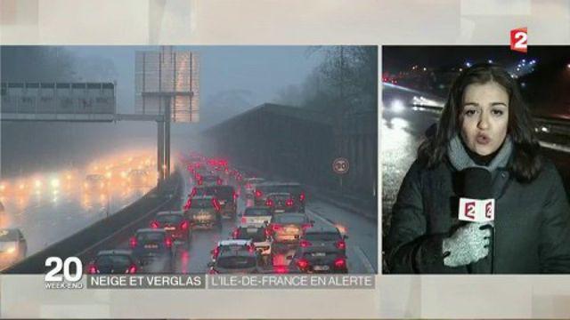 Neige et verglas : alerte maintenue en Ile-de-France jusqu'à lundi matin
