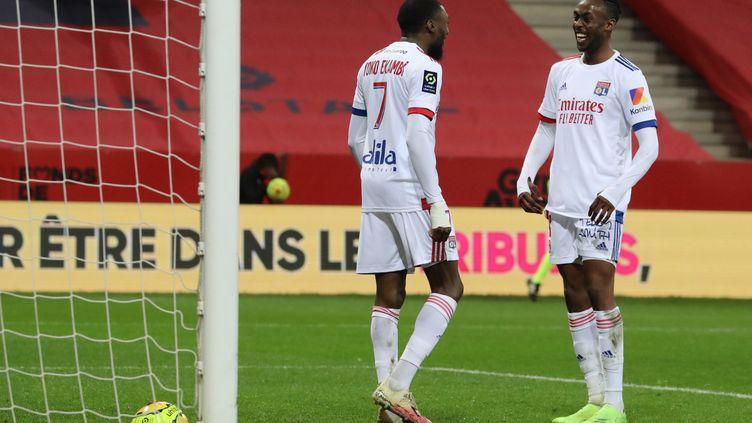 Toko-Ekambi a marqué sur une offrande de Kadewere (VALERY HACHE / AFP)