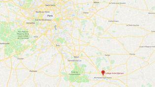 Une intoxication au collège André Malraux de Montereau-Fault-Yonne (Seine-et-Marne), le 9 octobre 2018. (GOOGLE MAPS)