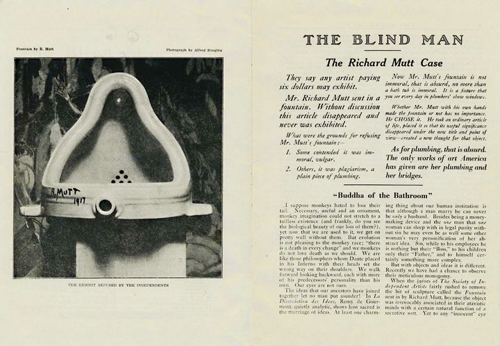 """Extrait de la revue """"The Blind Man"""" - Mai 1917"""