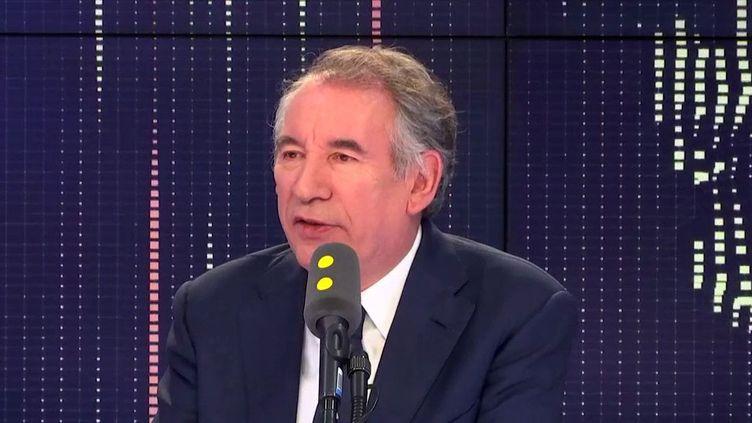 François Bayrou, maire de Pau et président du MoDem, invité le 10 janvier 2019 de franceinfo. (FRANCEINFO / RADIOFRANCE)