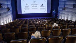Une salle de cinéma en juin 2021. (JEAN-MARC QUINET / MAXPPP)