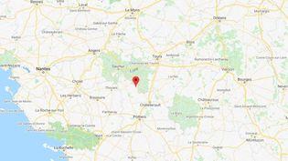 L'accident de voiture s'est déroulé à hauteur de Pouant, dans la Vienne. (FRANCEINFO / RADIO FRANCE)