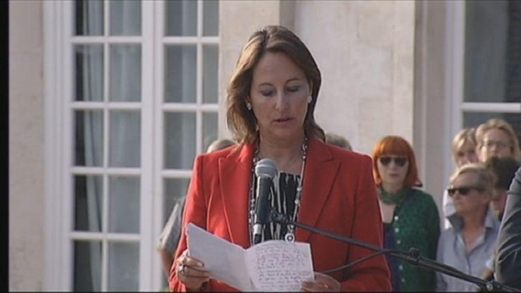 Ségolène Royal, la Rochelle, le 17 juin 2012 (FTV)