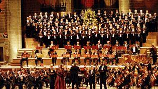 La 9e symphonie de Beethoven en 2000 dans l'abbatiale de la Chaise-Dieu  (MAXPPP)