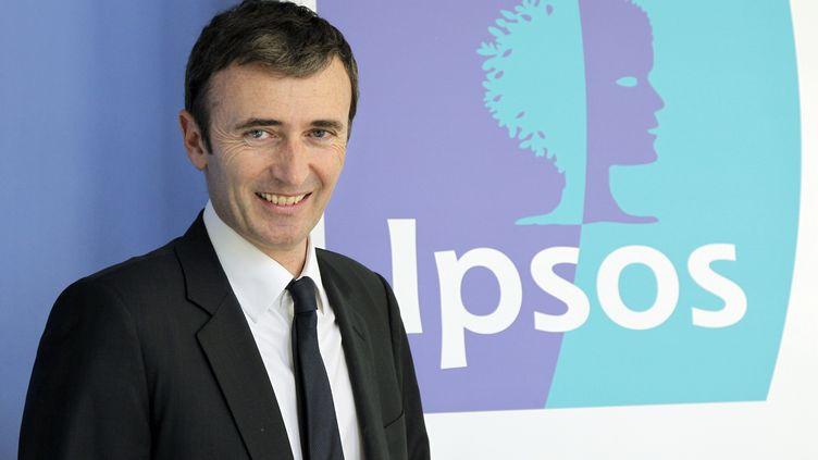 Le directeur général délégué France d'Ipsos, Brice Teinturier, le 23 mars 2011 à Paris. (PATRICK KOVARIK / AFP)