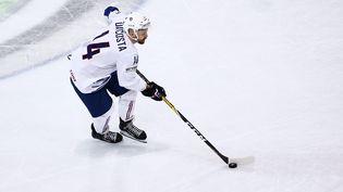 Stéphane Da Costa a réduit l'écart pour les Bleus face à la Lettonie. (THIERRY LARRET / MAXPPP)