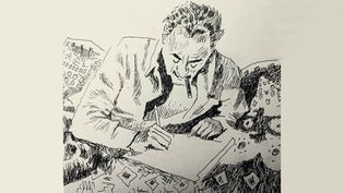 "Romain Gary vu par Joann Sfar dans la réédition illustrée de ""La Promesse de l'Aube"".  (Joann Sfar / Futuropolis)"