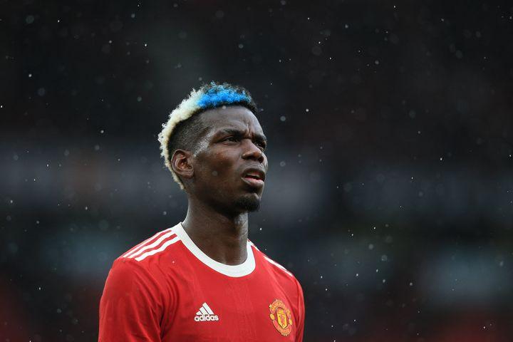 Paul Pogba, le milieu de terrain de Manchester United. (LINDSEY PARNABY / AFP)