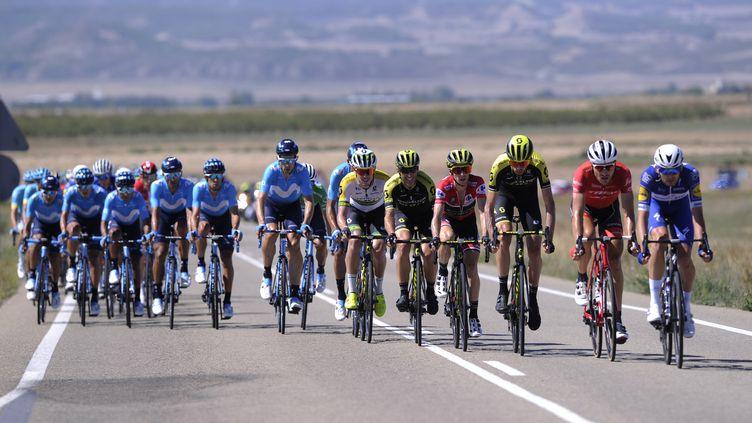 Le peloton lors de la Vuelta 2018. (ANDER GILLENEA / AFP)