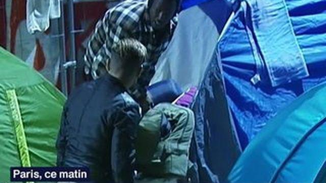 Deux camps de migrants évacués à Paris