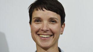 Frauke Petry, présidente de l'AfD, au lendemain des élections régionales du Mecklembourg-Poméranie occidentale. (ODD ANDERSEN / AFP)