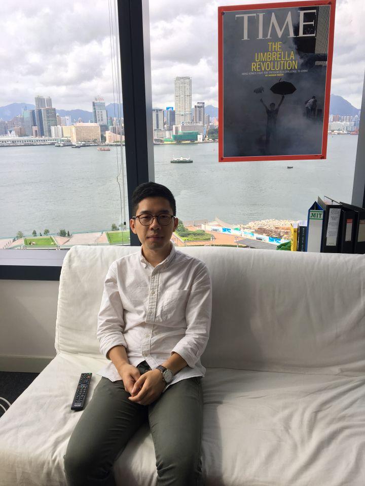 Nathan Law, le plus jeune député de Hong Kong, a fondé le parti pro-démocratique Demosisto, avec Joshua Wong. (RADIO FRANCE / DOMINIQUE ANDRE)
