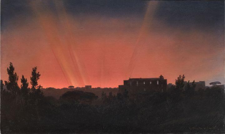 """Salvatore Fergola, """"Effets d'aurore boréale"""", 17 octobre 1848, Collection particulière   (© Collection particulière)"""
