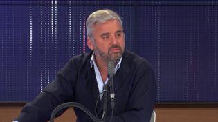 """Alexis Corbière, député La France insoumise de Seine-Saint-Denis, était l'invité du """"8h30 franceinfo"""", mardi 8 septembre 2020. (FRANCEINFO / RADIOFRANCE)"""
