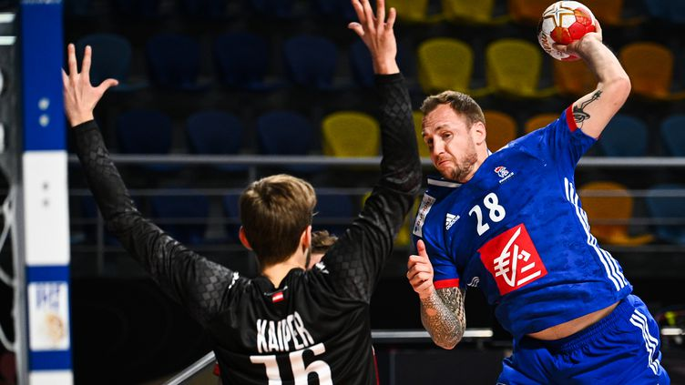 La France domine l'Autriche au Mondial de Handball, ce samedi 16 janvier 2021 (ANNE-CHRISTINE POUJOULAT / POOL)