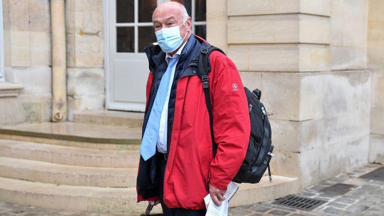 Le président de la région Nouvelle-Aquitaine, Alain Rousset,àMatignon à Paris, le 28 septembre 2020. (ALAIN JOCARD / AFP)