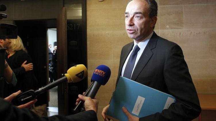 Le président de l'UMP, Jean-François Copé, le 2 avril 2014 à l'Assemblée nationale, à Paris. (THOMAS SAMSON / AFP)